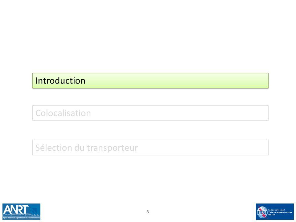 3 Introduction Colocalisation Sélection du transporteur