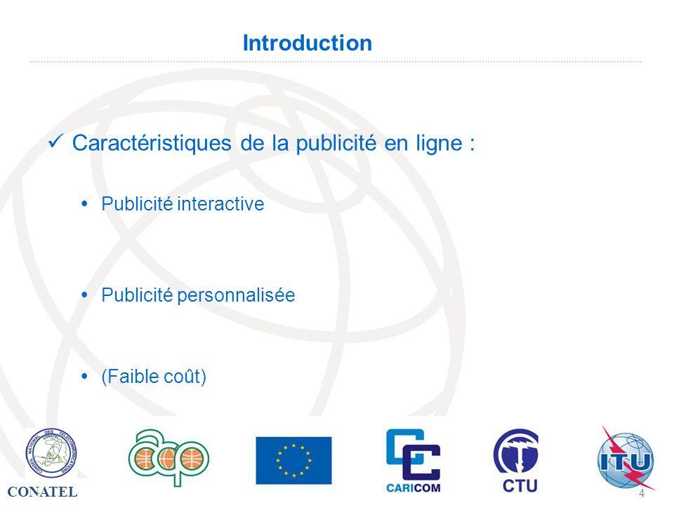 CONATEL - 15 - Introduction Distance Recours aux technologies de linformation et de la communication C.