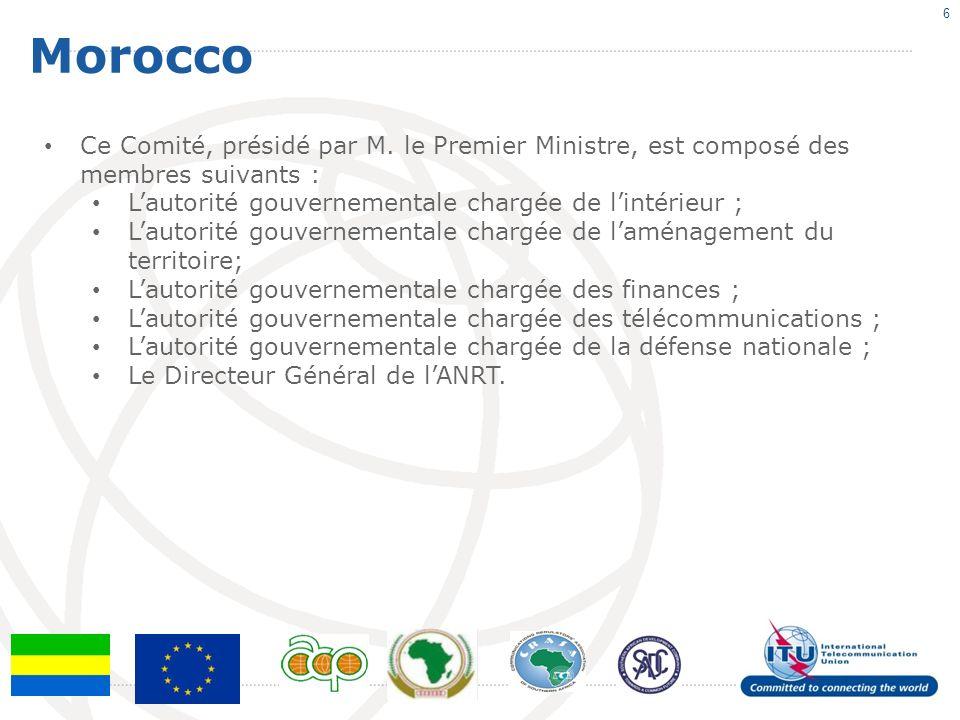 Morocco 6 Ce Comité, présidé par M.