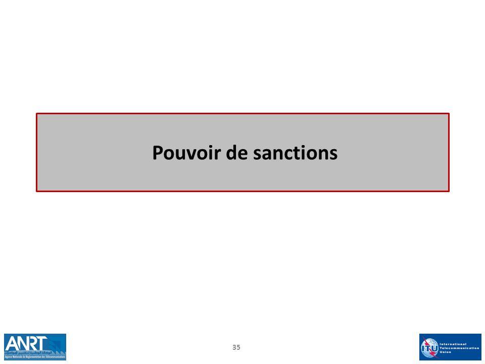 Pouvoir de sanctions 35