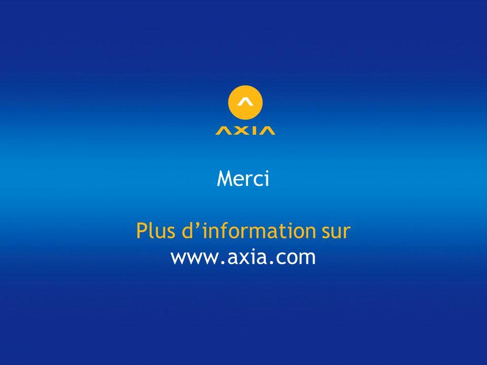 Merci Plus dinformation sur www.axia.com
