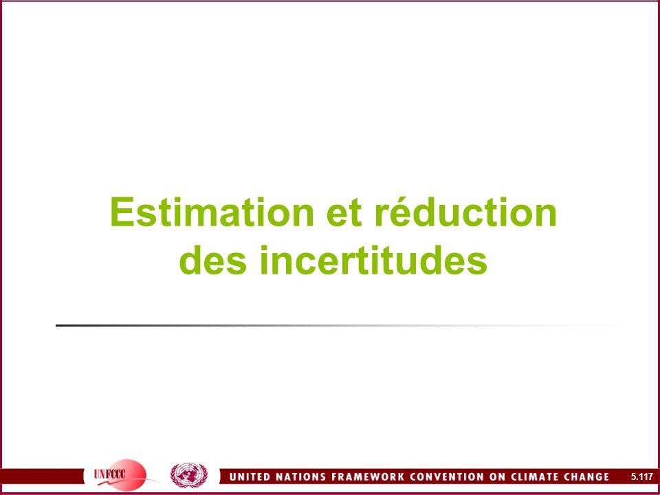 5.117 Estimation et réduction des incertitudes