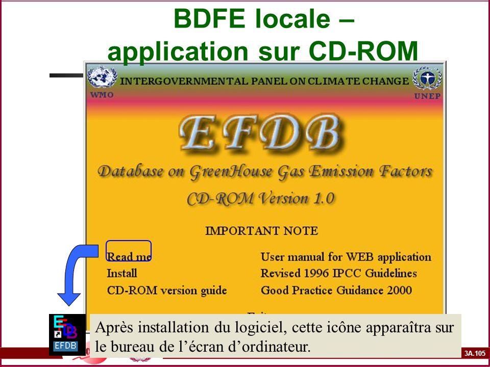 3A.105 BDFE locale – application sur CD-ROM Après installation du logiciel, cette icône apparaîtra sur le bureau de lécran dordinateur.