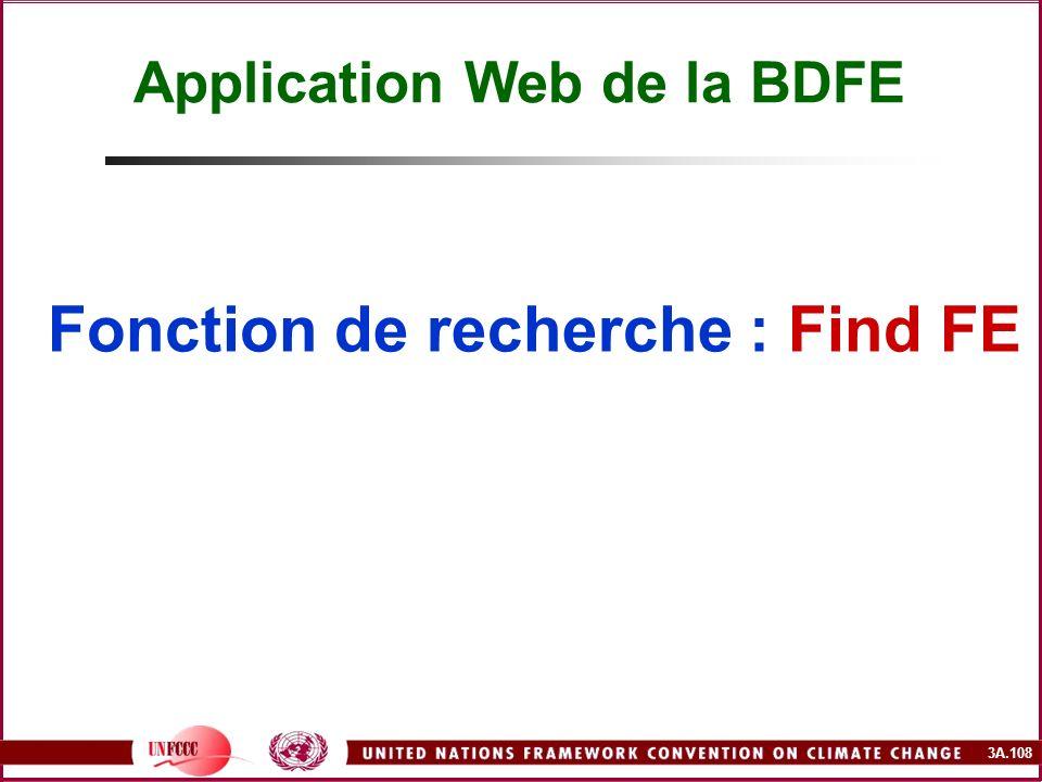 3A.108 Fonction de recherche : Find FE Application Web de la BDFE