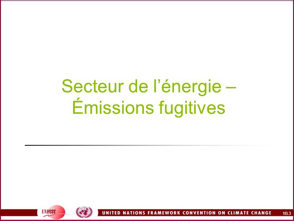 1B.3 Secteur de lénergie – Émissions fugitives