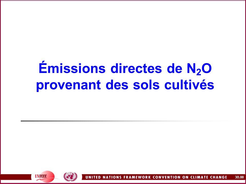 3B.88 Émissions directes de N 2 O provenant des sols cultivés