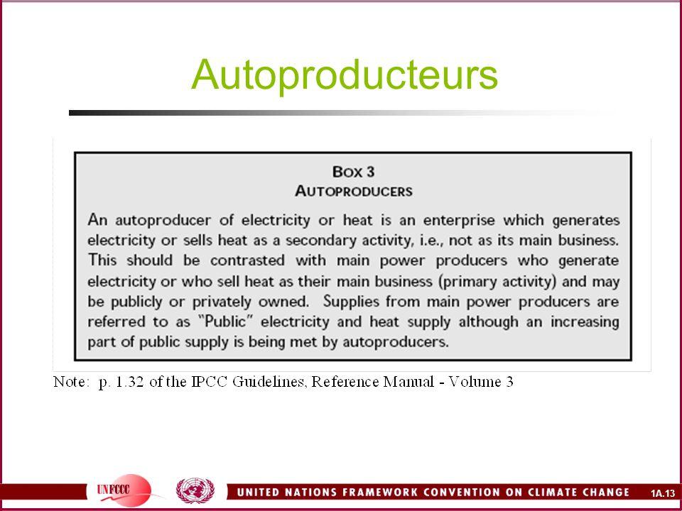 1A.13 Autoproducteurs