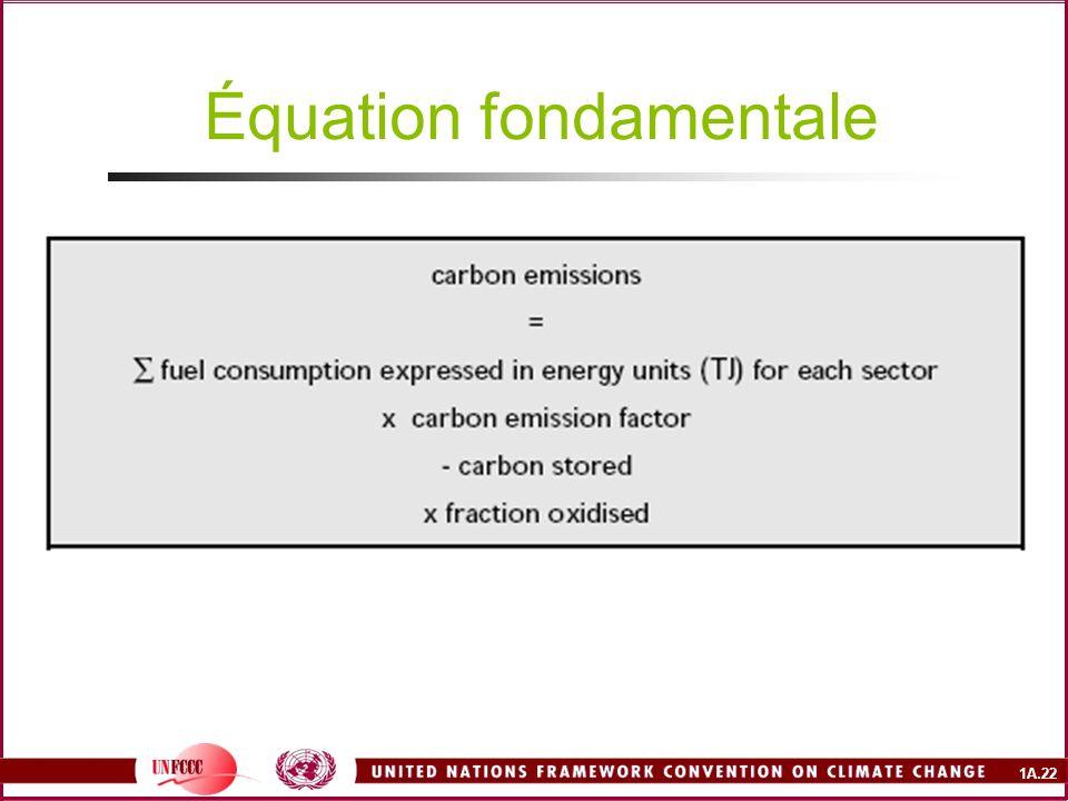 1A.22 Équation fondamentale