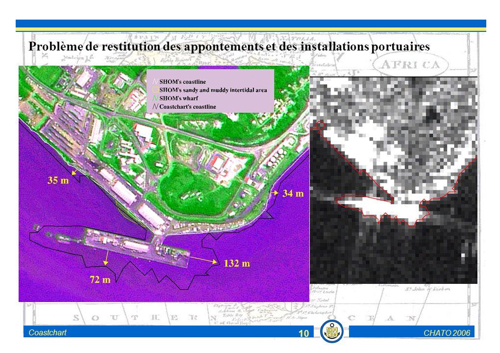 CHATO 2006Coastchart 10 Problème de restitution des appontements et des installations portuaires