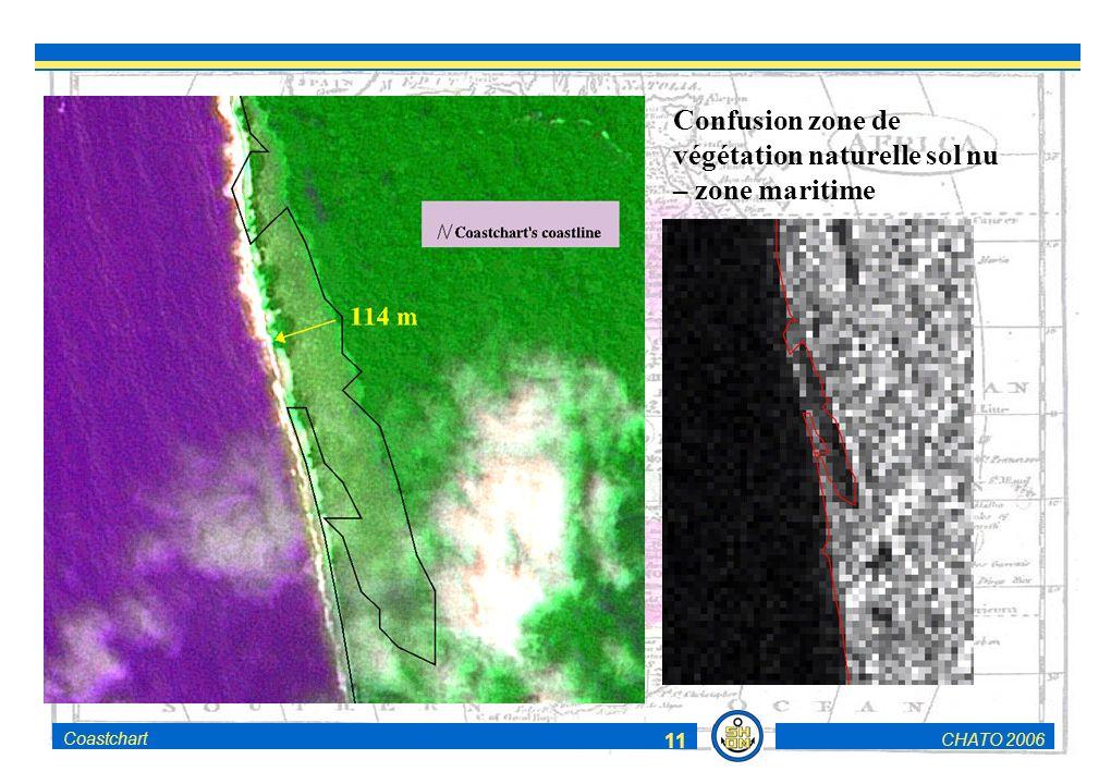 CHATO 2006Coastchart 11 Confusion zone de végétation naturelle sol nu – zone maritime