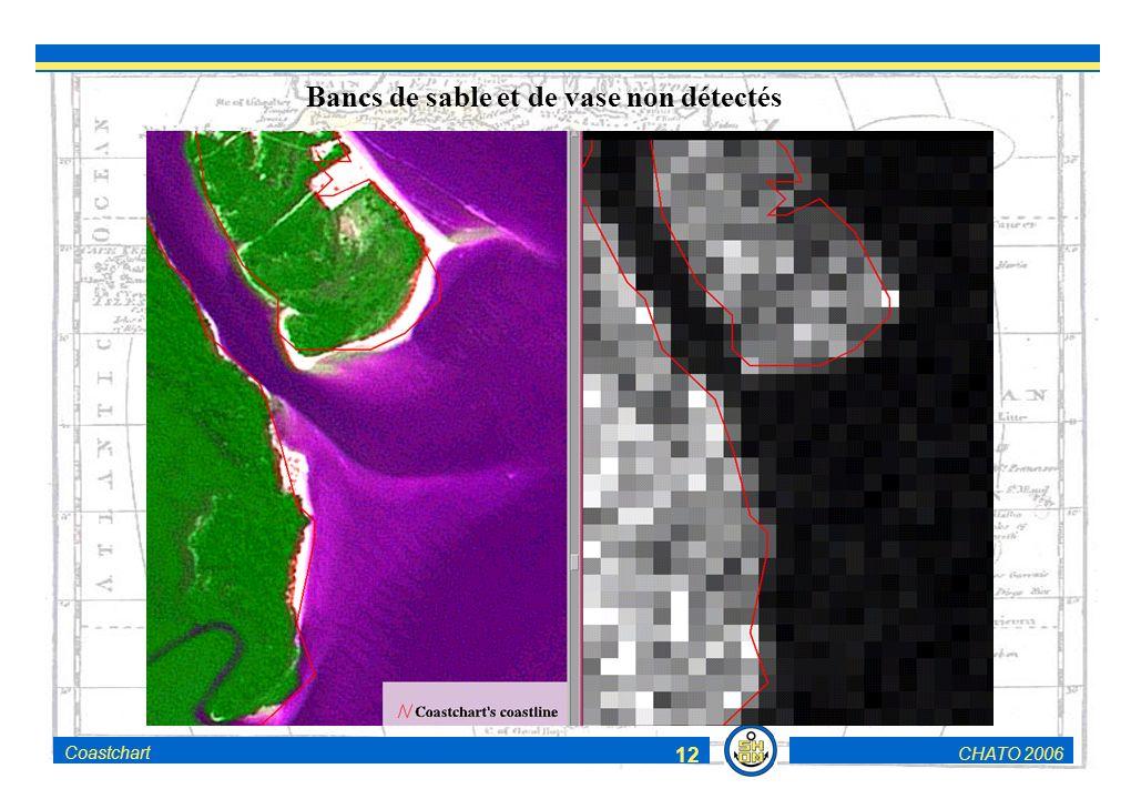 CHATO 2006Coastchart 12 Bancs de sable et de vase non détectés