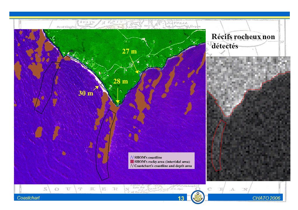 CHATO 2006Coastchart 13 Récifs rocheux non détectés