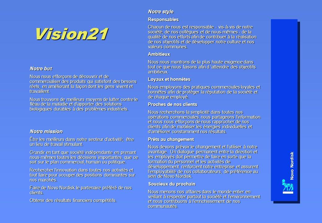 Vision21 Notre but Nous nous efforçons de découvrir et de commercialiser des produits qui satisfont des besoins réels, en améliorant la façon dont les