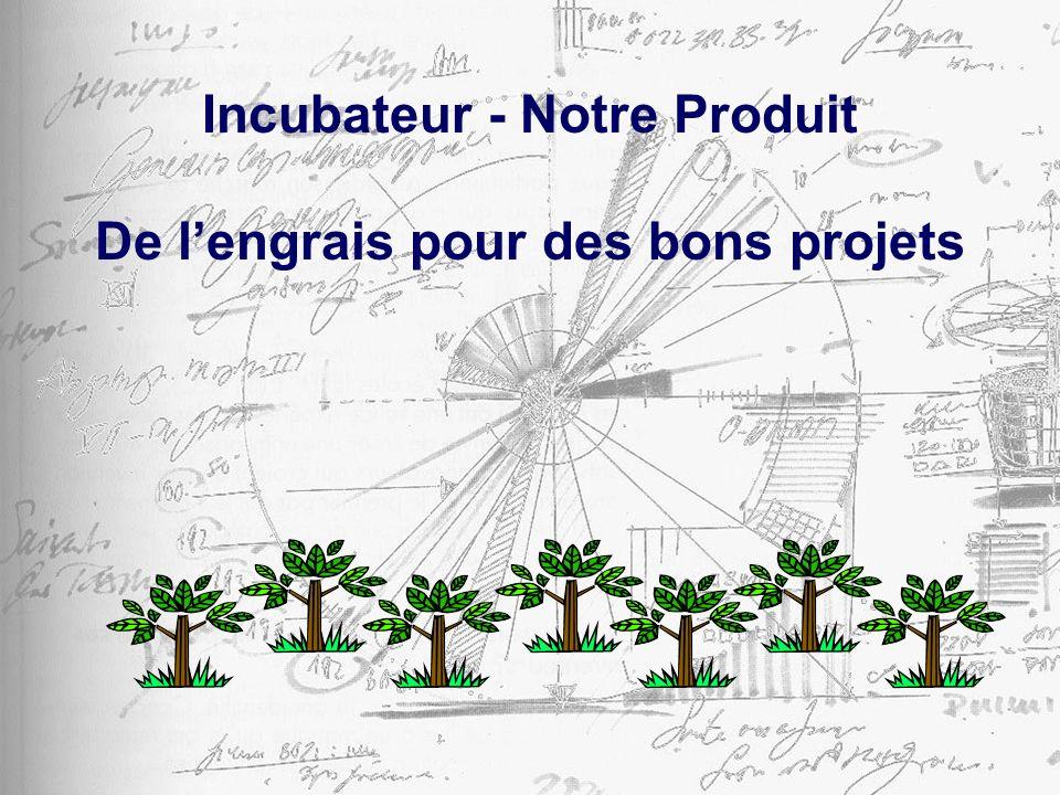 Incubateur - Notre Produit De lengrais pour des bons projets