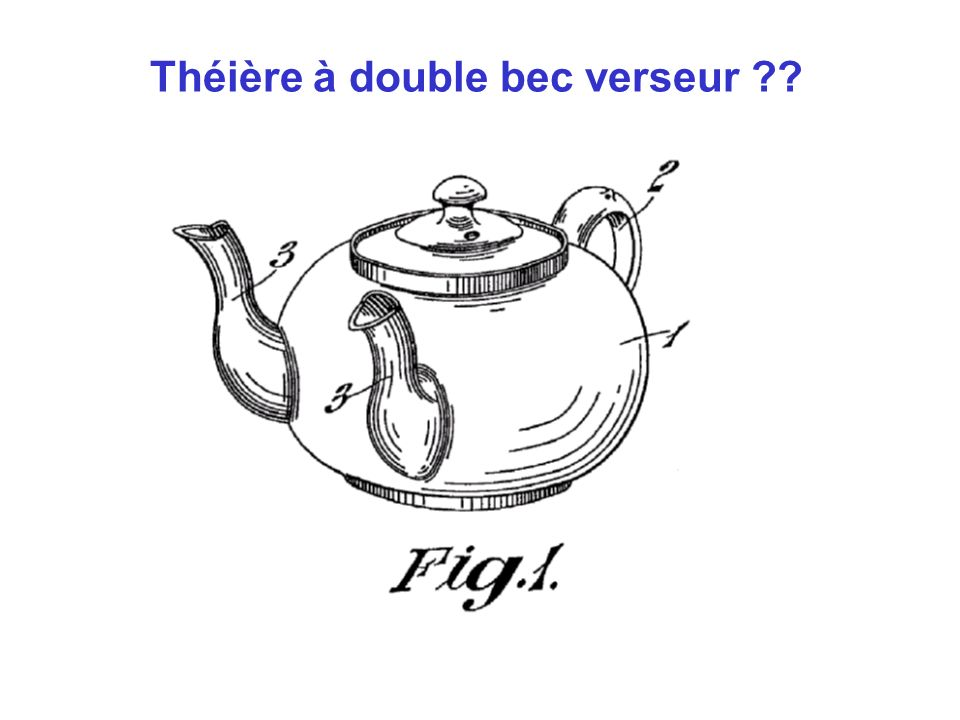 Théière à double bec verseur ??