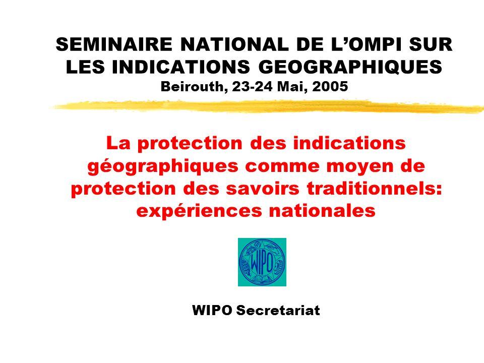2 Indications géographiques et savoirs traditionnels 1.