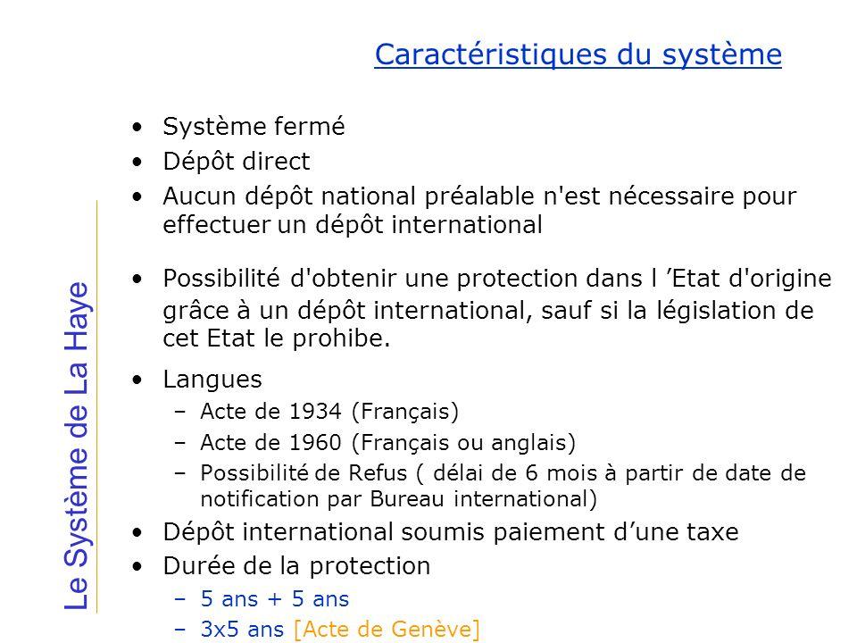 Système fermé Dépôt direct Aucun dépôt national préalable n'est nécessaire pour effectuer un dépôt international Possibilité d'obtenir une protection