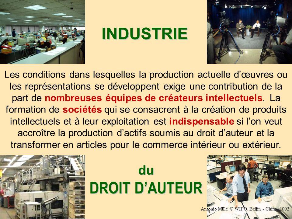 Les conditions dans lesquelles la production actuelle dœuvres ou les représentations se développent exige une contribution de la part de nombreuses équipes de créateurs intellectuels.