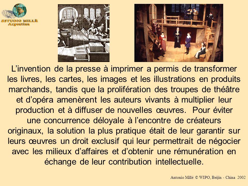 Antonio Millé © WIPO, Beijin - China 2002 Linvention de la presse à imprimer a permis de transformer les livres, les cartes, les images et les illustr