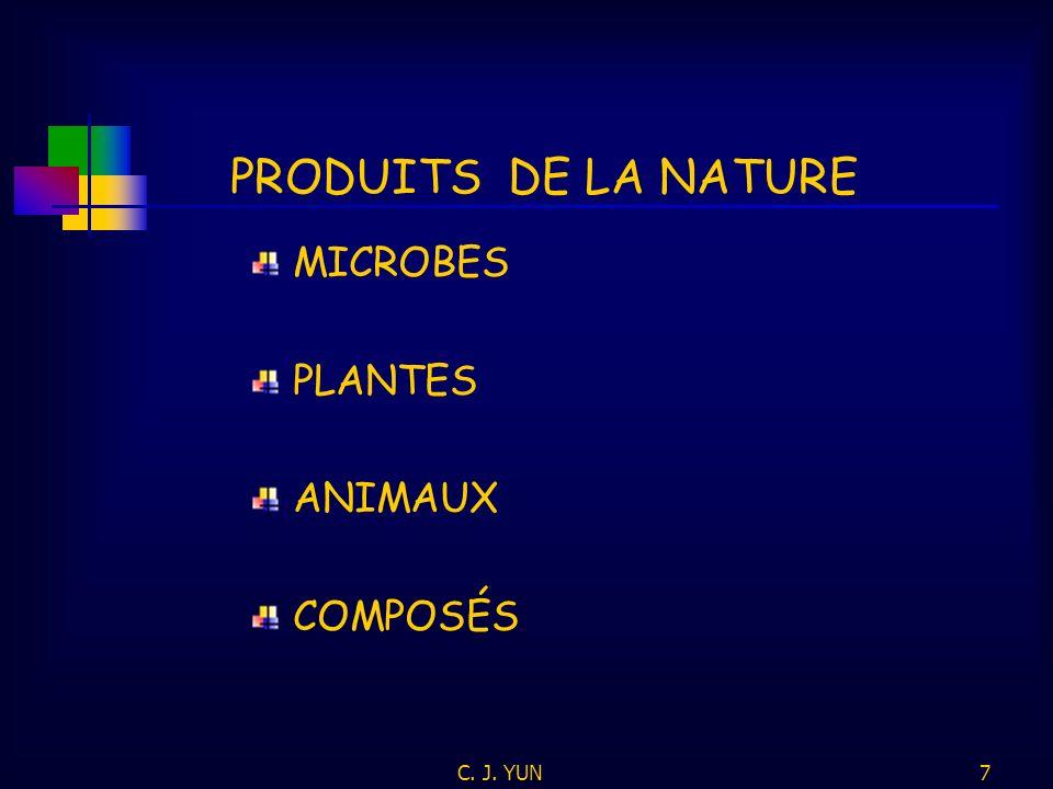 C. J. YUN6 COMPOSITIONS PROCÉDÉS MACHINES ARTICLES MANUFACTURÉS * * * PRODUITS DE LA NATURE? OBJETS LÉGALEMENT PROTÉGÉS