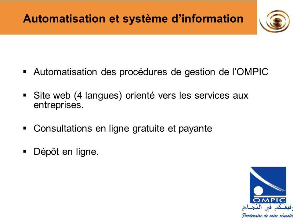 Automatisation des procédures de gestion de lOMPIC Site web (4 langues) orienté vers les services aux entreprises. Consultations en ligne gratuite et