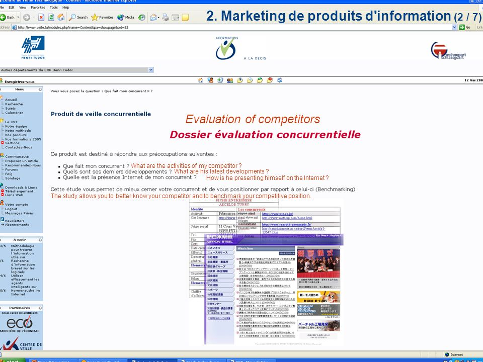 WIPO forum on IP and SMEs 2005 - Genève 25.05.20058 / 14 Evaluation of products/material Do substitution-products exist .