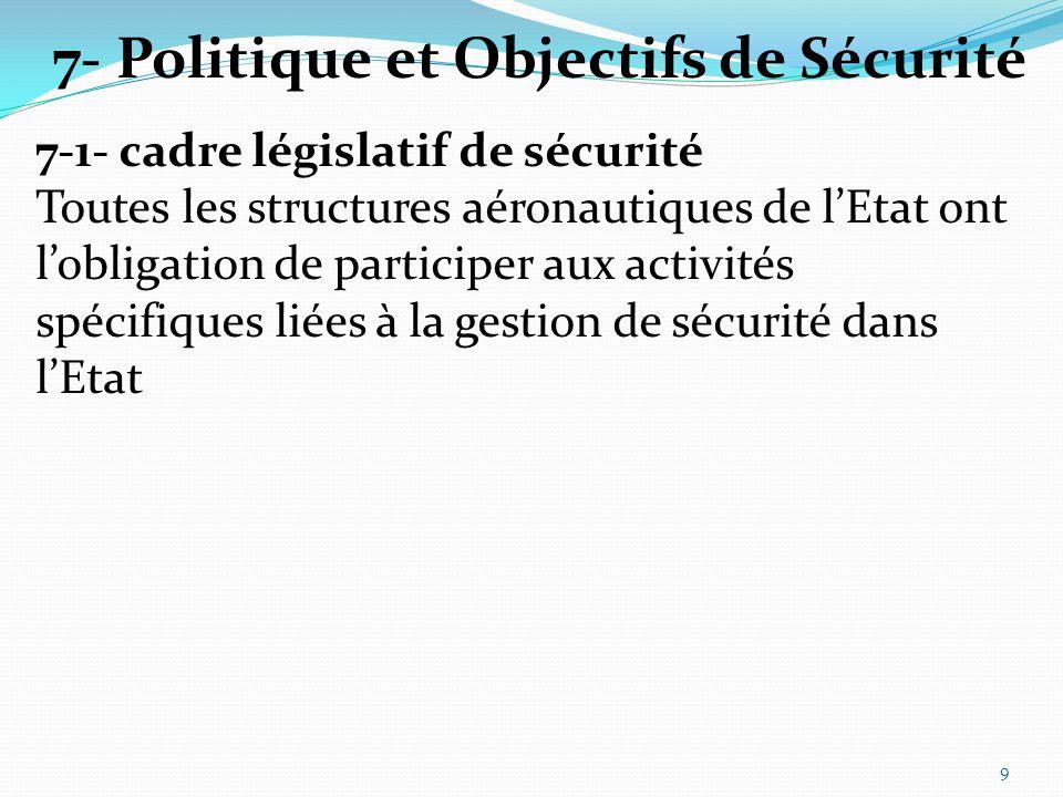 7-2- Responsabilité et obligation redditionnelle LAAC est le responsable chargé de la coordination des rôles et responsabilités des différents intervenants et de la mise en œuvre du SSP.