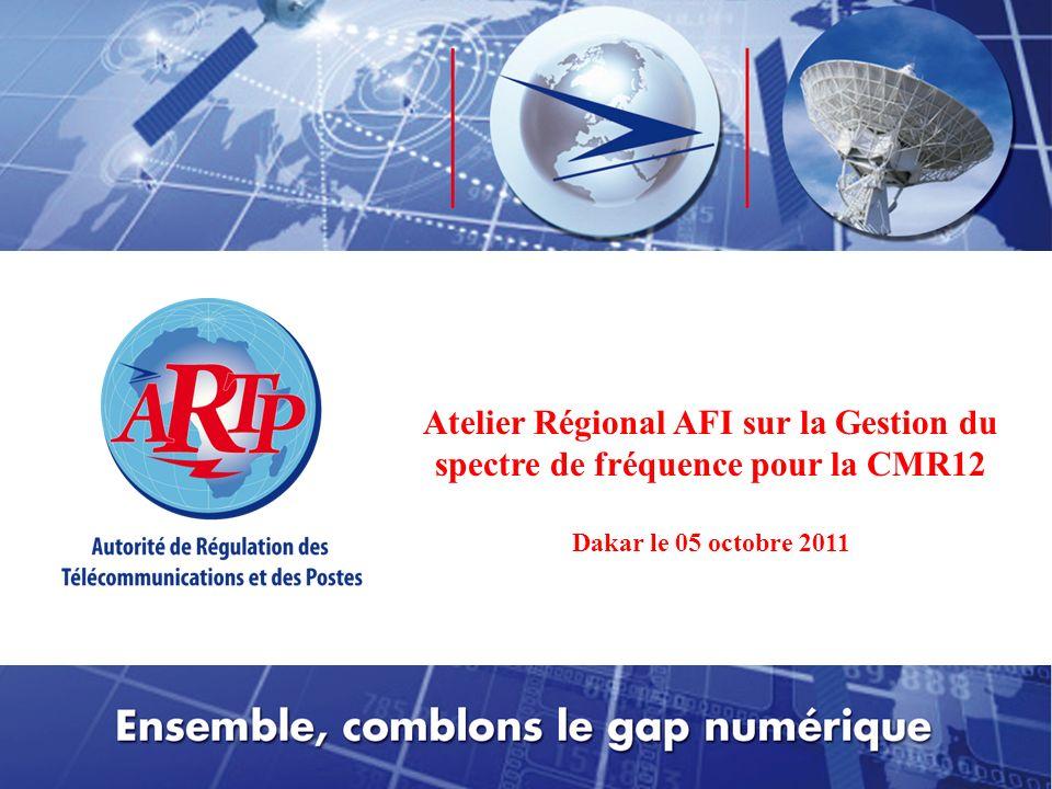 © Copyright CLM Février 2011 Un Peuple – Un But – Une Foi PRIMATURE Atelier Régional AFI sur la Gestion du spectre de fréquence pour la CMR12 Dakar le 05 octobre 2011