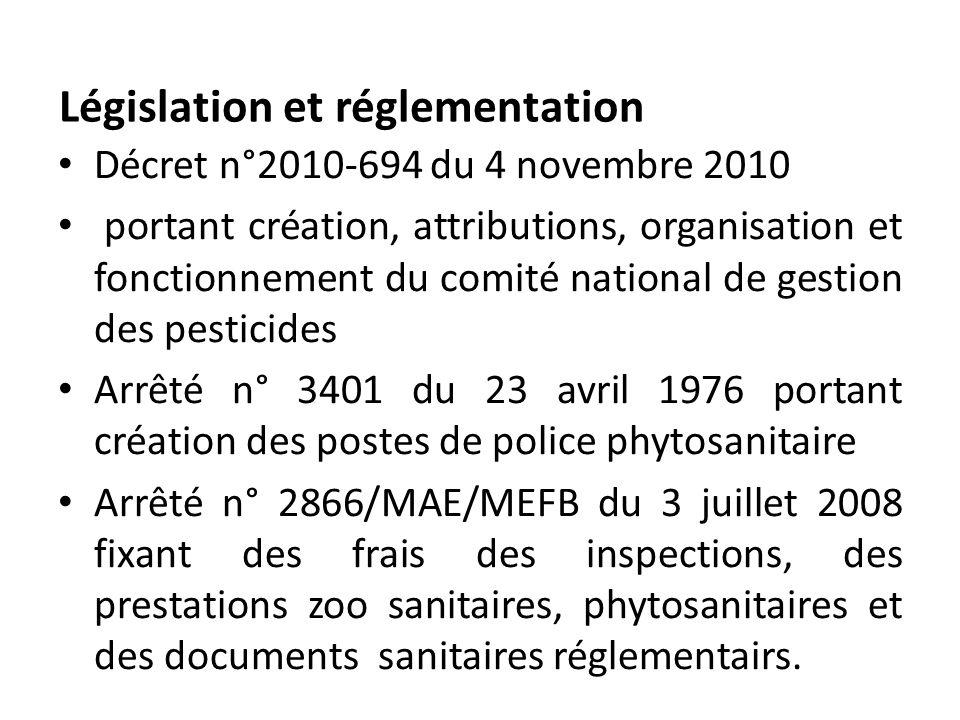 Décret n°2010-694 du 4 novembre 2010 portant création, attributions, organisation et fonctionnement du comité national de gestion des pesticides Arrêt