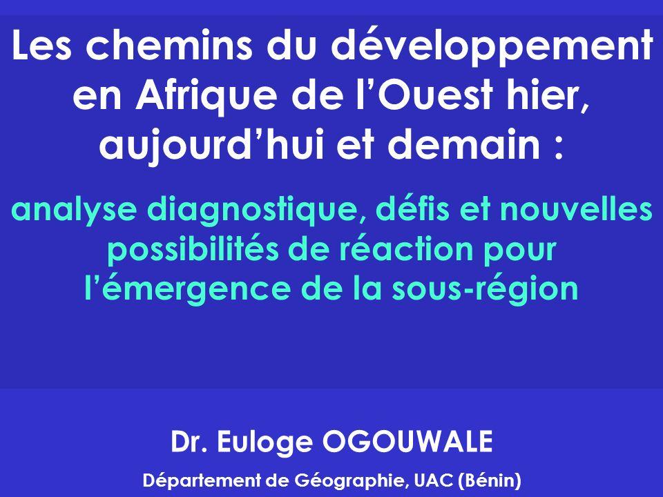 Introduction Les crises de tous genres frappent très durement les pays de la région ouest africaine depuis leur accession à lindépendance.