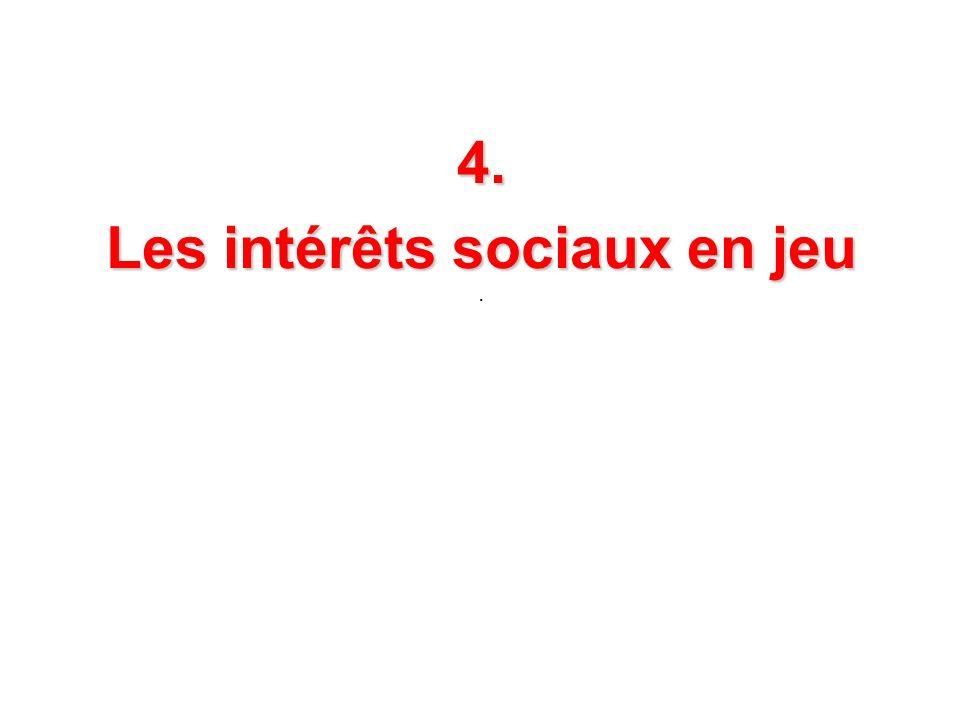 4. Les intérêts sociaux en jeu.