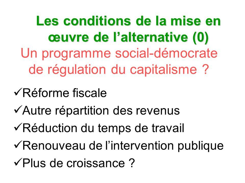Un programme social-démocrate de régulation du capitalisme .
