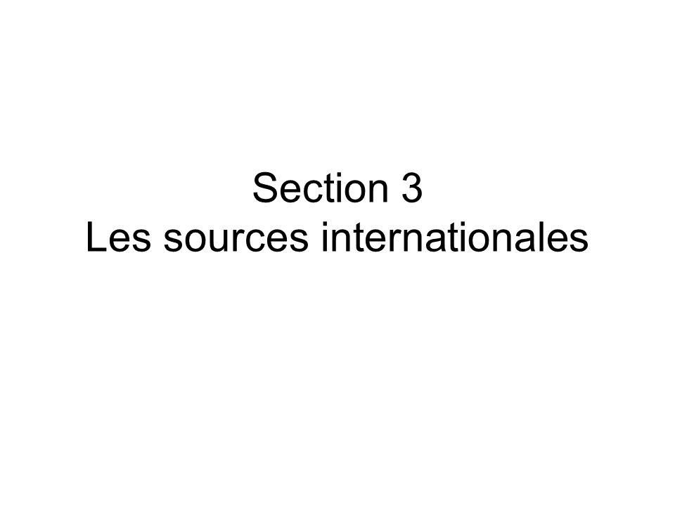 Les sources internationales Sous-section 1 – Le rang –A – Rang infraconstitutionnel Art.