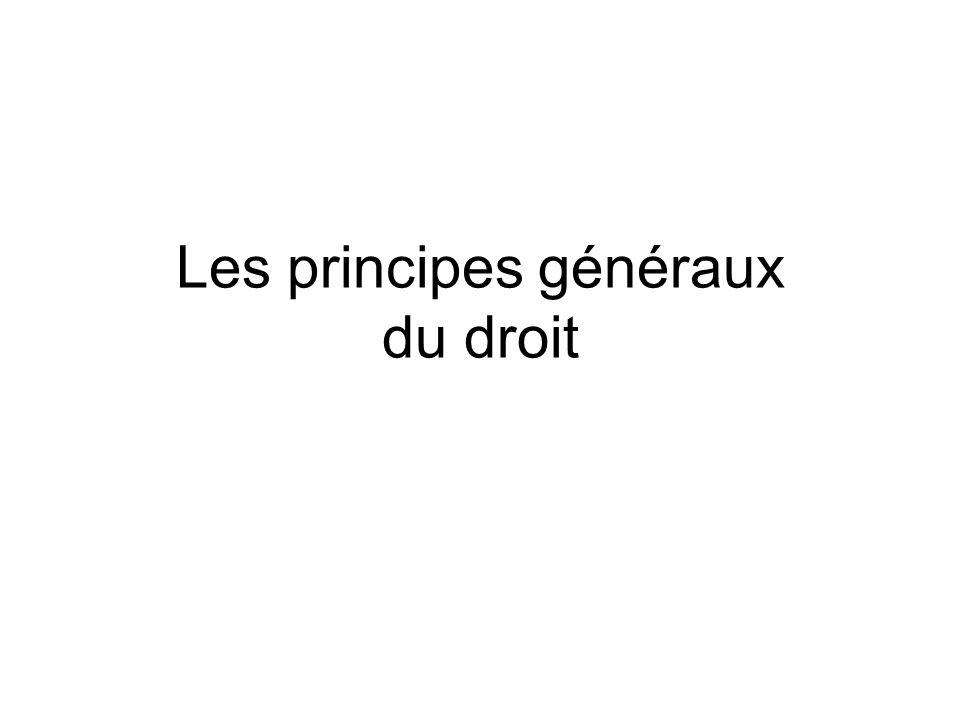 § 1 – Le rang des PGD A - Le rang supra-décrétal –CE Ass.