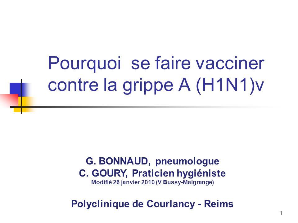 1 Pourquoi se faire vacciner contre la grippe A (H1N1)v G.