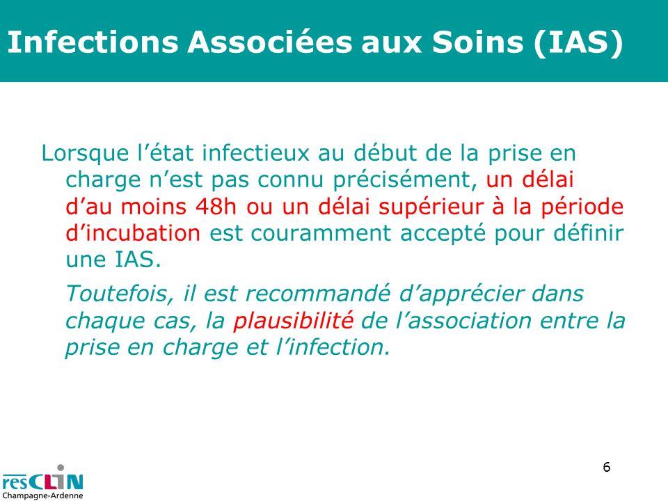 7 2 catégories d IAS non exclusives Infection associée à lenvironnement de soins (IAES) Infection associée aux actes de soins (IAAS)