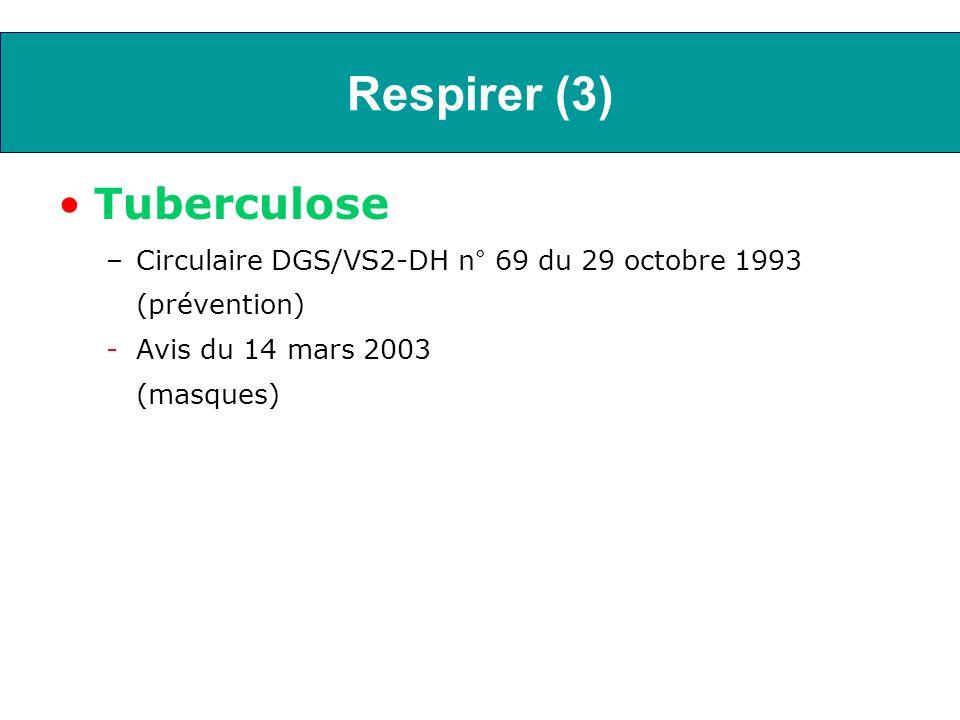 Respirer (4) Toutes les infections respiratoires basses –Circulaire n° 489 du 22 novembre 2006 (CAT devant les infections respiratoires basses chez la personne âgée)