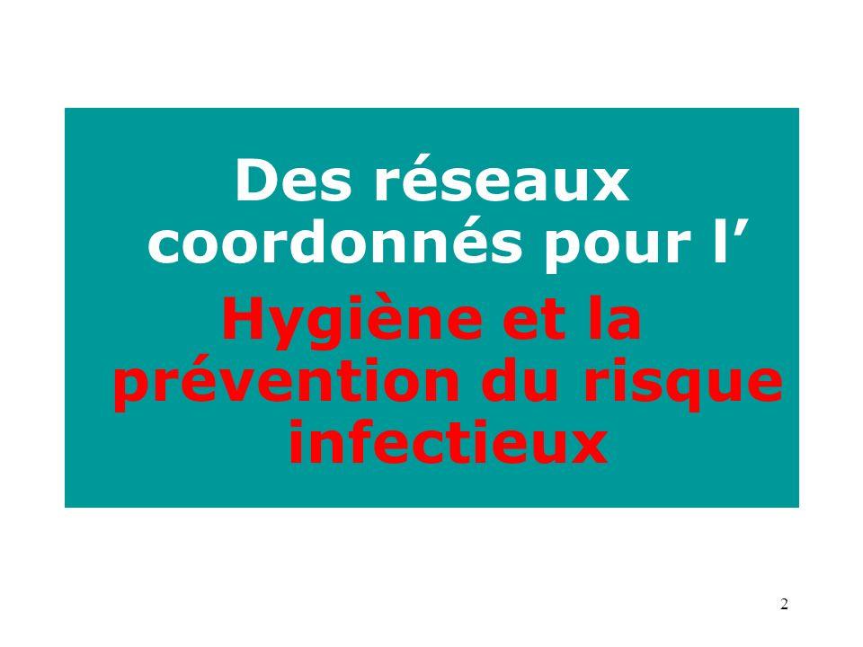 2 Des réseaux coordonnés pour l Hygiène et la prévention du risque infectieux