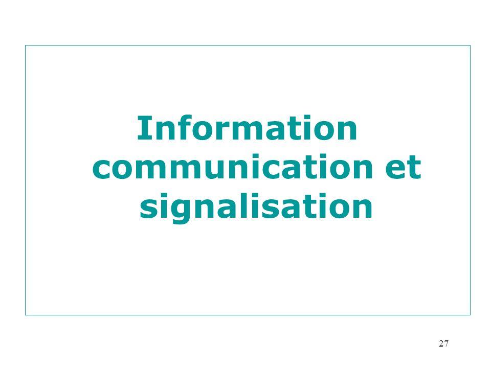 27 Information communication et signalisation