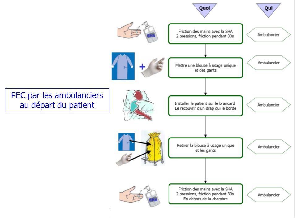 7 PEC par les ambulanciers au départ du patient