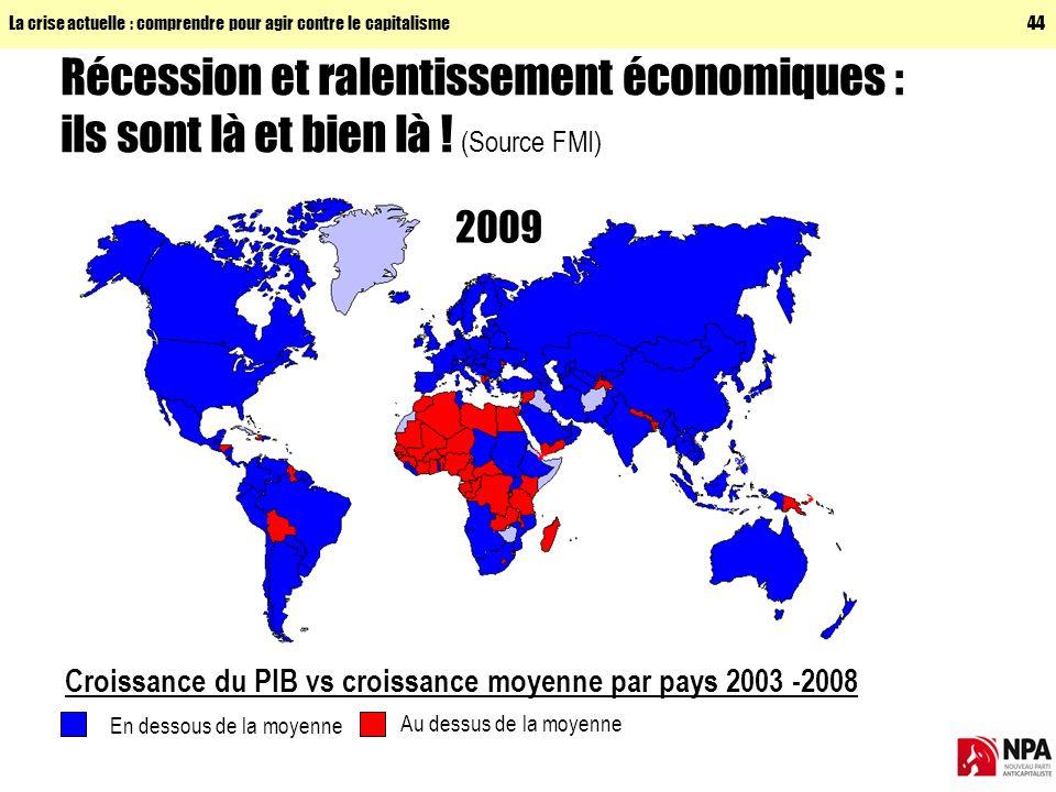 La crise actuelle : comprendre pour agir contre le capitalisme44 Récession et ralentissement économiques : ils sont là et bien là .