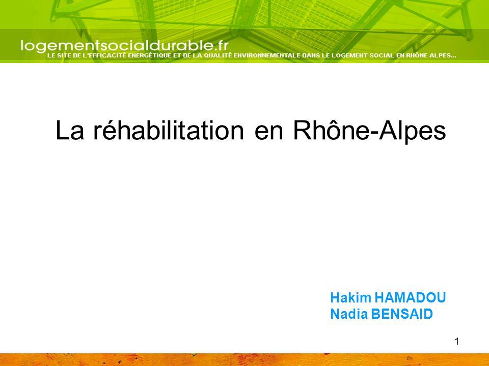 1 La réhabilitation en Rhône-Alpes Hakim HAMADOU Nadia BENSAID