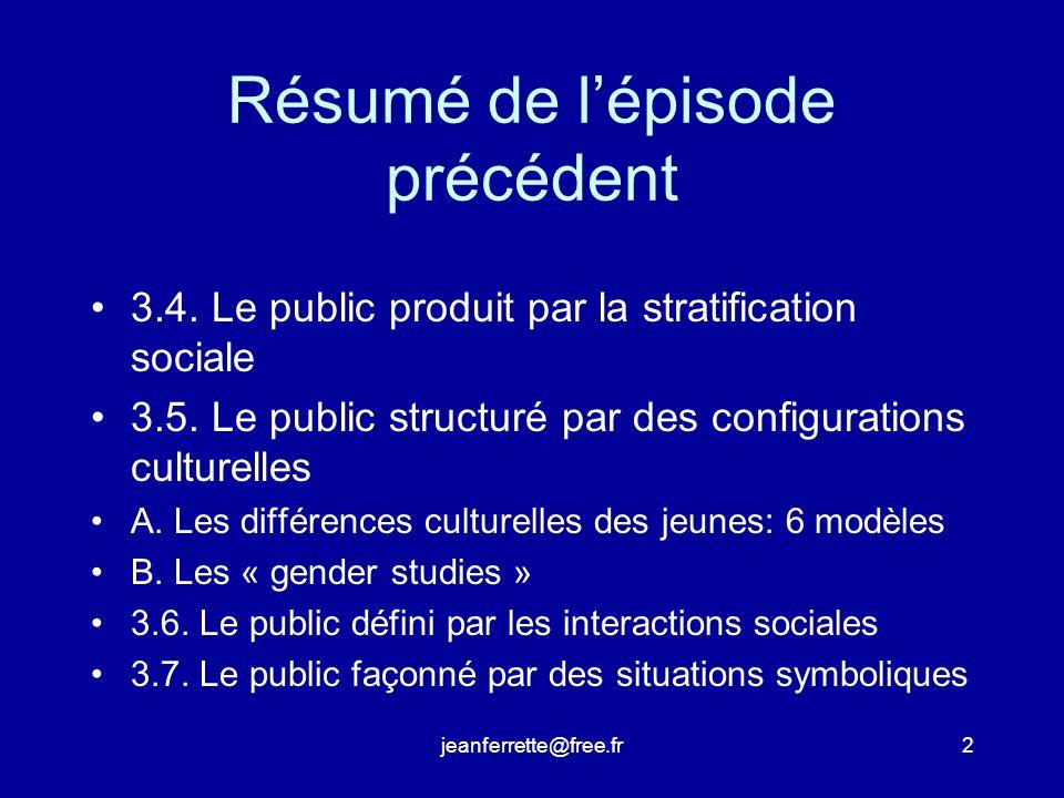 jeanferrette@free.fr2 Résumé de lépisode précédent 3.4.