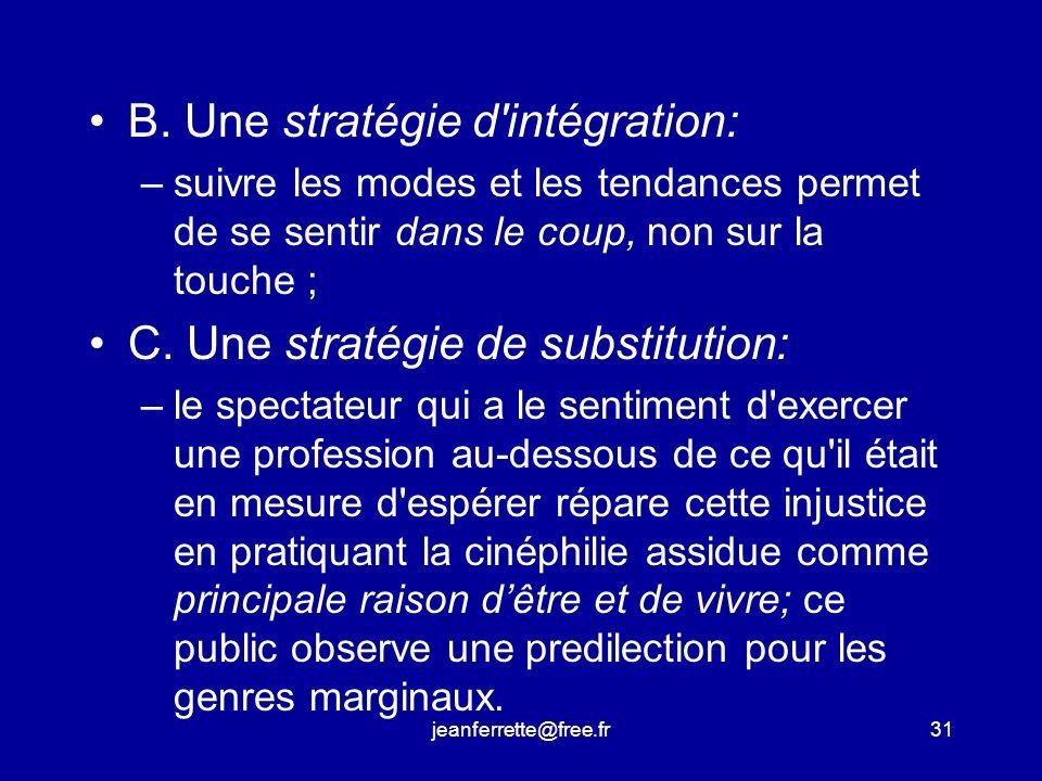 jeanferrette@free.fr30 Les trois motivations du cinéphile A.