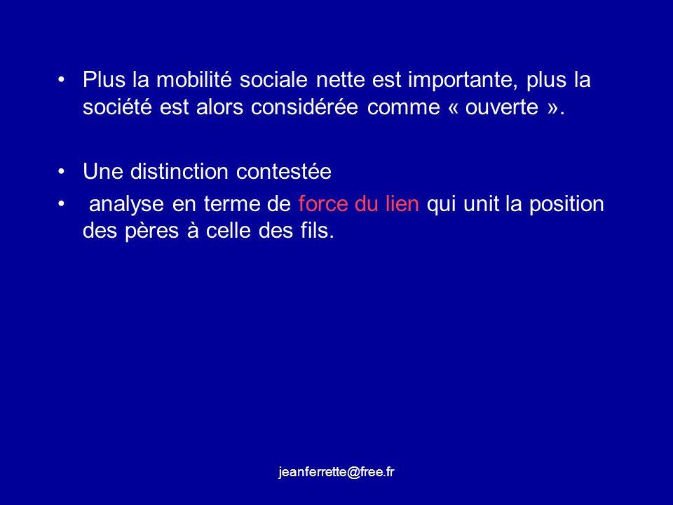 jeanferrette@free.fr Ainsi se rejoignaient, pour des raisons différentes, des visions du monde assignant à chaque groupe social et aux individus les composant une position durable dans lespace social.
