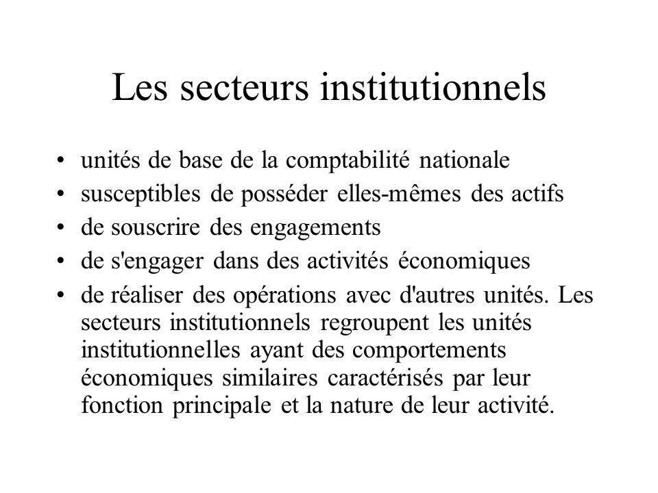La comptabilité nationale Mesure lactivité économique des agents économiques sur le territoire économique français. Le territoire économique français