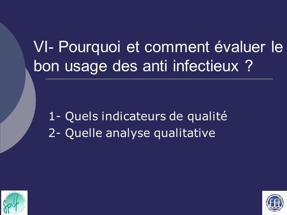 24 VI- Pourquoi et comment évaluer le bon usage des anti infectieux .