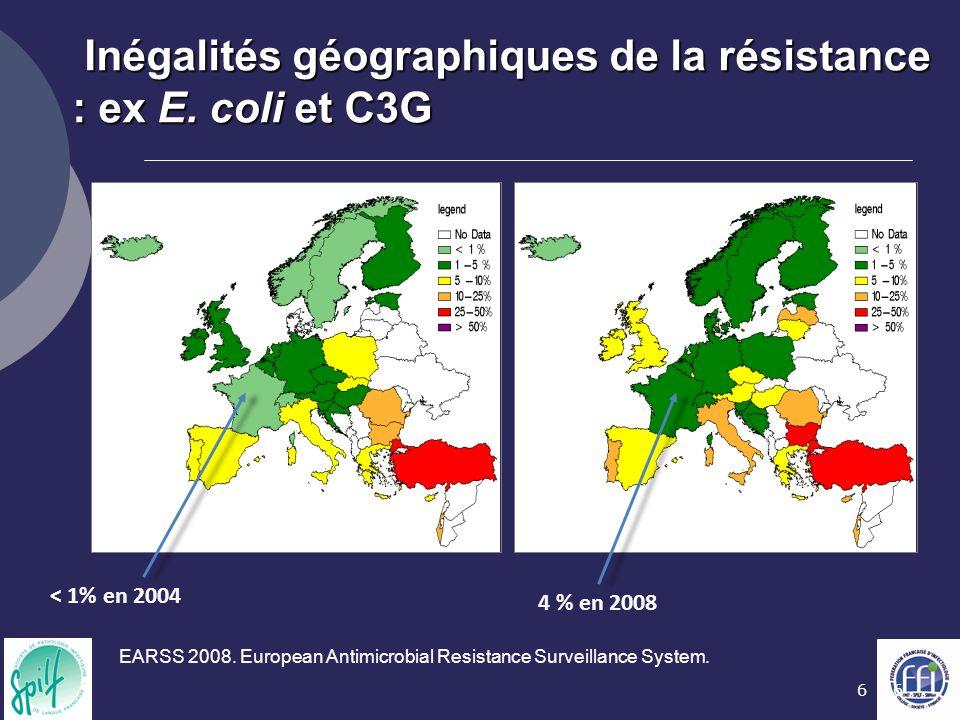 17 In Prescott et al 2000 1- Risque écologique individuel La sélection de bactéries résistantes commence au niveau de la flore commensale
