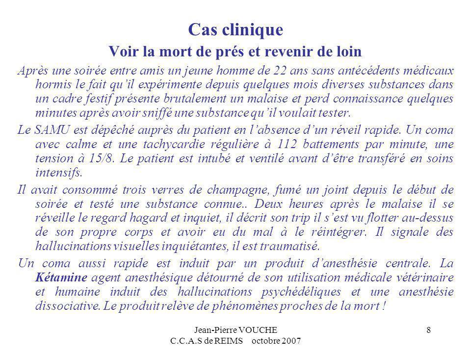 Jean-Pierre VOUCHE C.C.A.S de REIMS octobre 2007 9 Les soins aux toxicomanes Prise en charge, Suivi psychiatriques des pathologies associées.