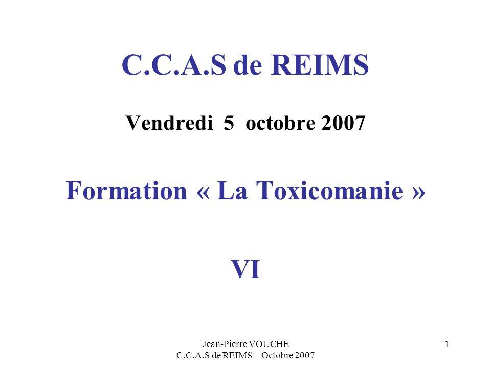 Jean-Pierre VOUCHE C.C.A.S de REIMS Octobre 2007 2 Lintervention sociale Sa place dans le suivi des toxicomanes fréquentant les divers services du C.C.A.S